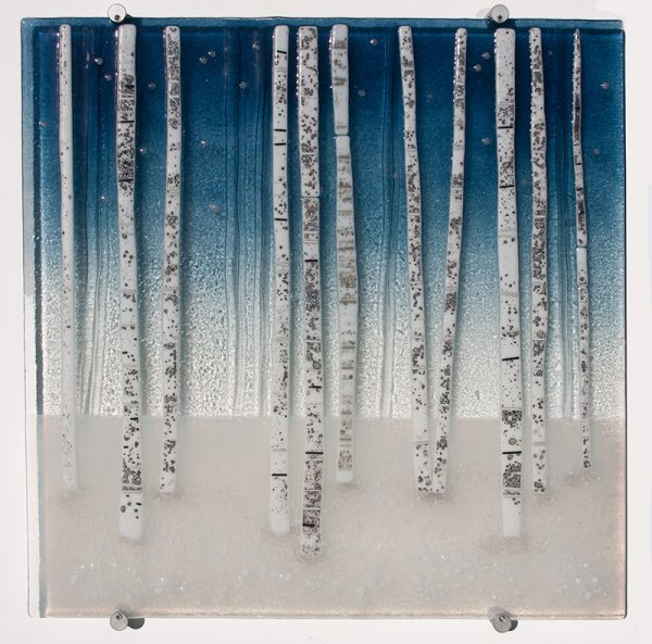 Sue Tinkler Winter Birches Glass Wall Art
