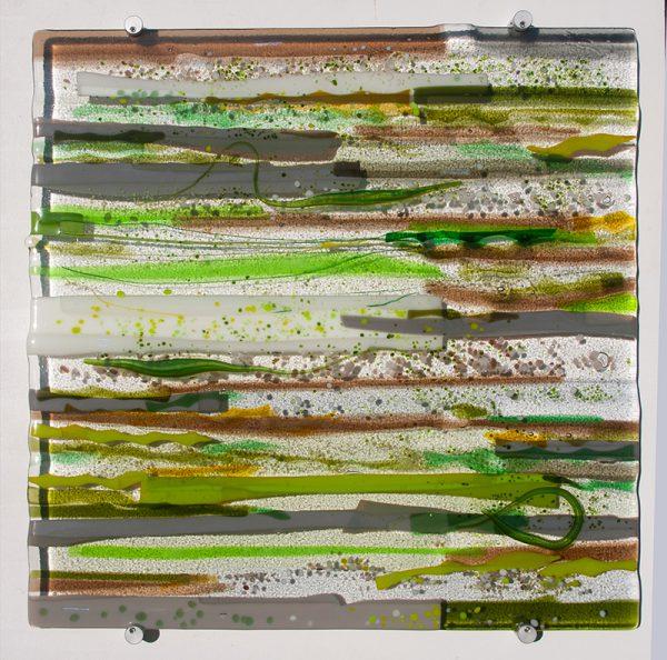 Sue Tinkler Chalk Stream Glass Wall Art